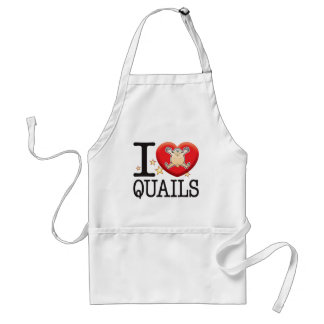 Quails Love Man Standard Apron