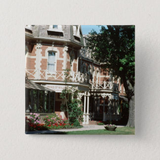Quaint architecture exterior, Canada 15 Cm Square Badge