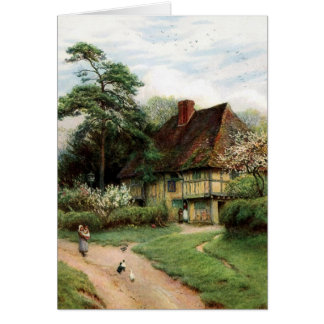 Quaint Cottage Birthday Card