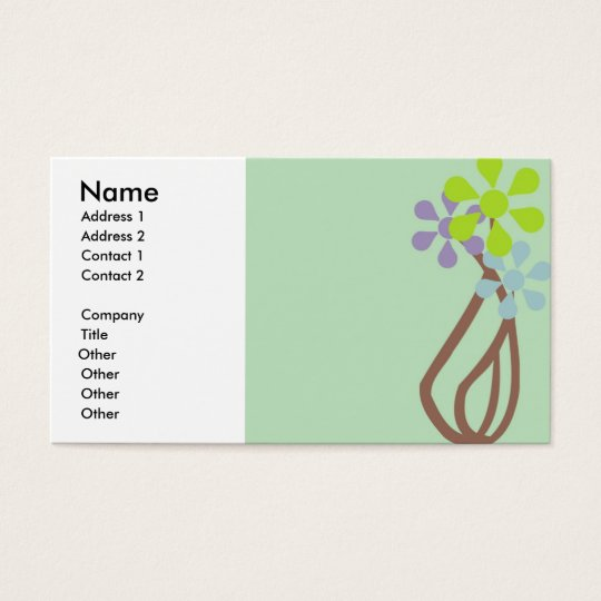 QUAINT FLOWER VASE BUSINESS CARDS