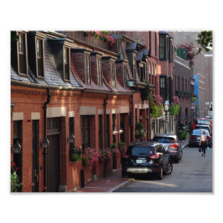 Quaint Homes Back Bay Boston Street Photo Print