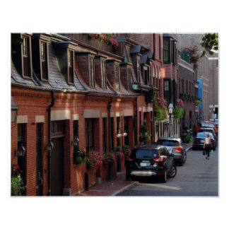 Quaint Homes Back Bay Boston Street Poster