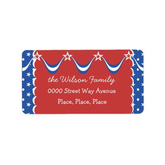 Quaint Independence Day Address Label