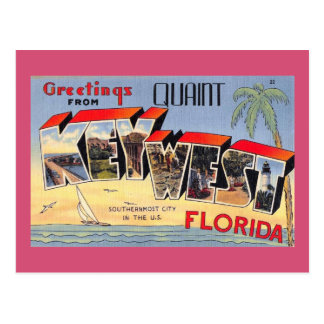 Quaint Key West, Florida Retro Vintage Postcard