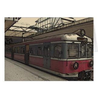 Quaint Krakow Train Greeting Card