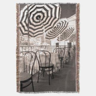 Quaint restaurant balcony, Italy Throw Blanket