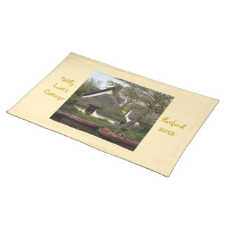 Quaint Thatched Cottage of Willie Lott Flatford Placemats