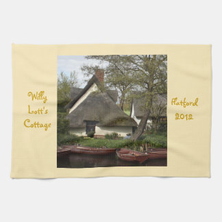 Quaint Thatched Cottage of Willy Lott Flatford Hand Towels