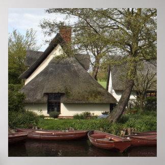 Quaint Thatched Cottage poster