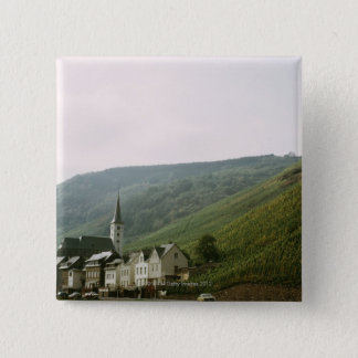Quaint town of Moselles in Italy 15 Cm Square Badge