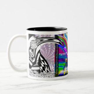 quake-bird-epicenter map coffee cup Two-Tone mug