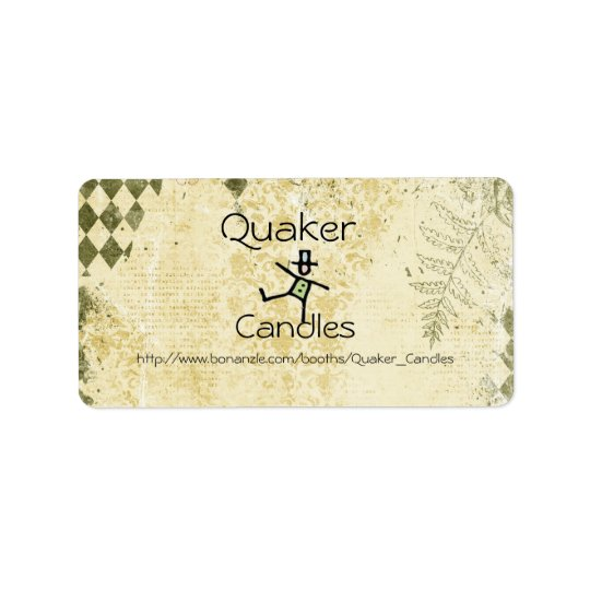 Quaker Candle labels