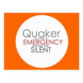 Quaker Emergency Postcard