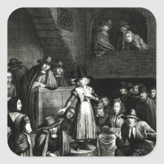 Quaker Meeting, 1699 Square Sticker