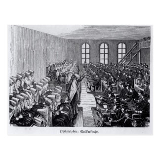 Quaker Meeting, Philadelphia Postcard