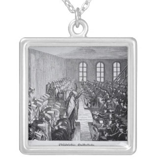 Quaker Meeting, Philadelphia Silver Plated Necklace