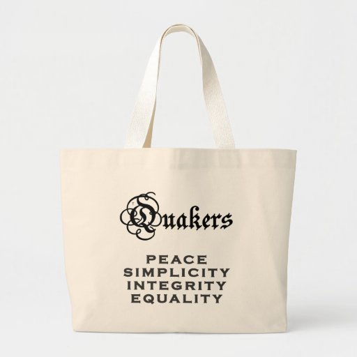Quaker Motto Bags