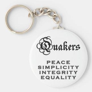 Quaker Motto Basic Round Button Key Ring