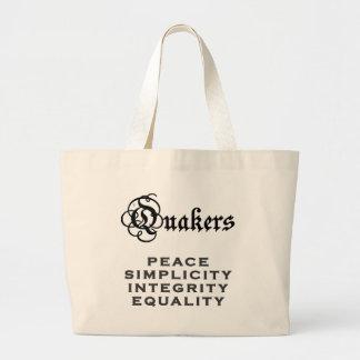 Quaker Motto Large Tote Bag