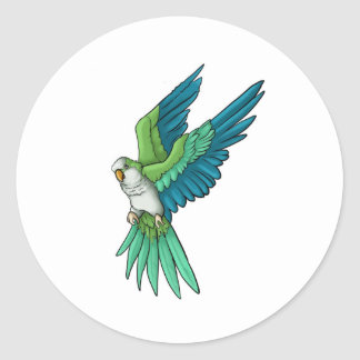 Quaker Parrot Products Classic Round Sticker