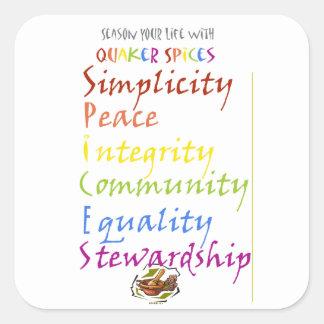 Quaker Spices Square Sticker