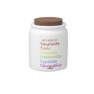 Quaker Spices Candy Jar