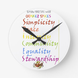Quaker Spices Wall Clock