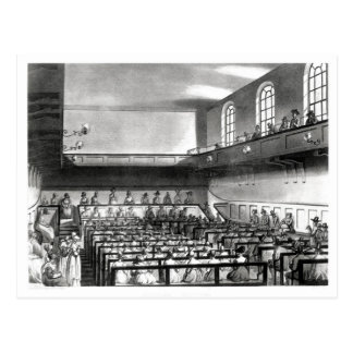 Quakers Meeting, from Ackermann's Postcard