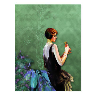 Qualida, 1920s Fashion in Blue and Green Postcards
