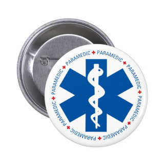 Qualified Paramedic Medical 6 Cm Round Badge