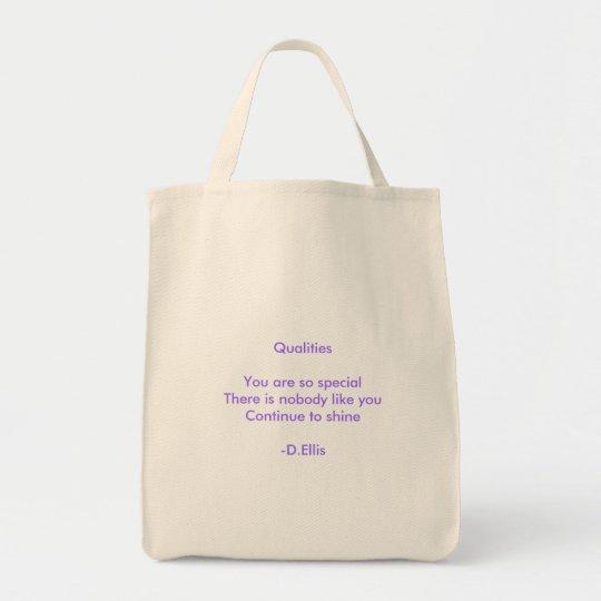 Qualities Haiku Tote