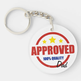 Quality Approved Dad Double-Sided Round Acrylic Key Ring