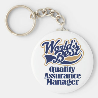 Quality Assurance Manager Gift Basic Round Button Key Ring