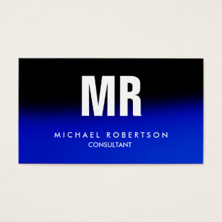 Quality Black Midnight Blue Monogram Unique Business Card