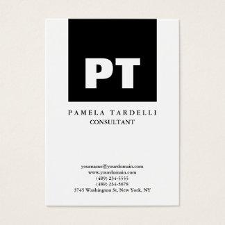 Quality Black & White Monogram Unique Modern Business Card