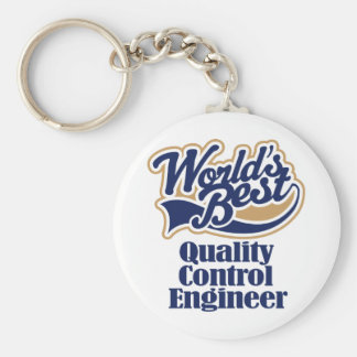 Quality Control Engineer Gift Basic Round Button Key Ring