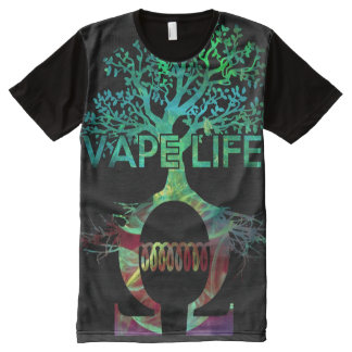 Quality Full Print Vape Life Shirt All-Over Print T-Shirt