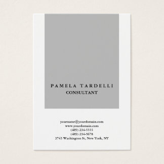 Quality Grey & White Unique Modern Trendy Business Card