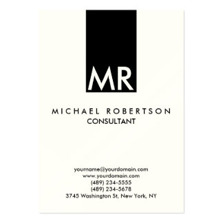 Quality Indestructible Special Monogram Unique Pack Of Chubby Business Cards