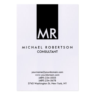 Quality Linen Special Monogram Unique Clear Pack Of Chubby Business Cards