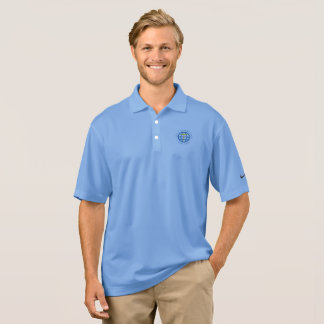 Quality polo shirt in light blue