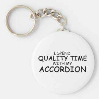Quality Time Accordion Basic Round Button Key Ring