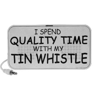 Quality Time Tin Whistle Notebook Speakers