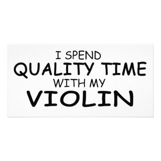 Quality Time Violin Photo Cards
