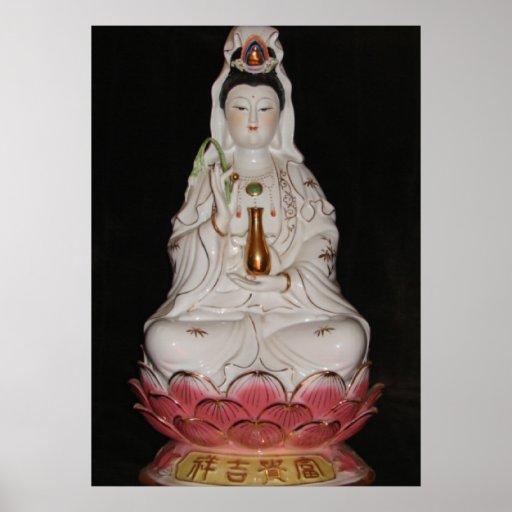 Quan Yin Goddess of Mercy Buddha Meditation Poster