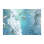 """Quan Yin, Serenity quote - Large, 36"""" x 24"""" Canvas Print"""