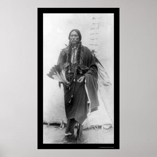 Quanah Parker, Comanche Indian Chief 1909 Poster