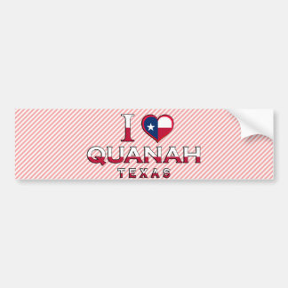 Quanah, Texas Bumper Sticker