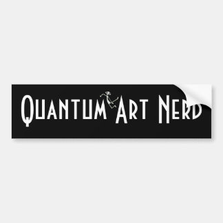 Quantum Art Nerd© with floating Alien Bumper Sticker