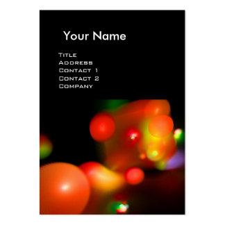 QUANTUM BUBBLES  MONOGRAM Vibrant red Business Card